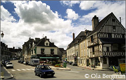 The centre of Chablis, Burgundy.