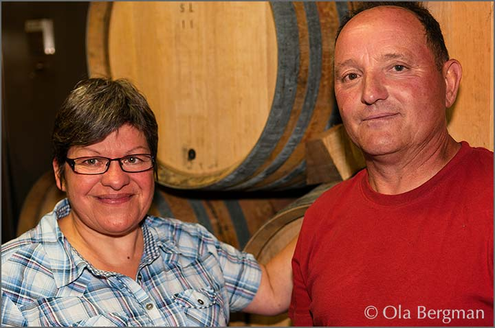 Maryline and Michel Martin at Domaine Michel Martin.