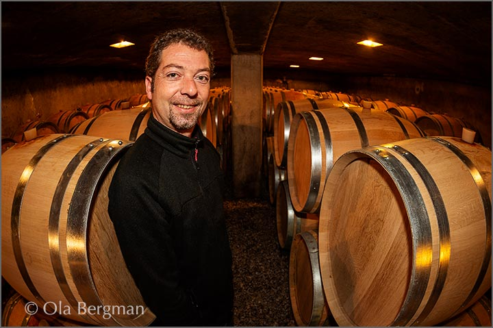 Philippe Harmand at Domaine Harmand-Geoffroy in Gevrey-Chambertin.