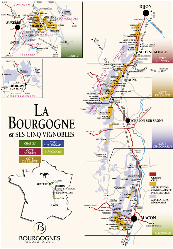 Map over Burgundy.