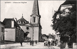 The church in Givry in the early 20th century.